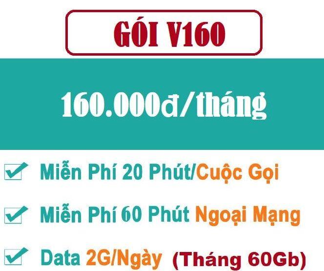 Gói V160K – Gói cước combo thoại + data hấp dẫn cho thuê bao trả sau
